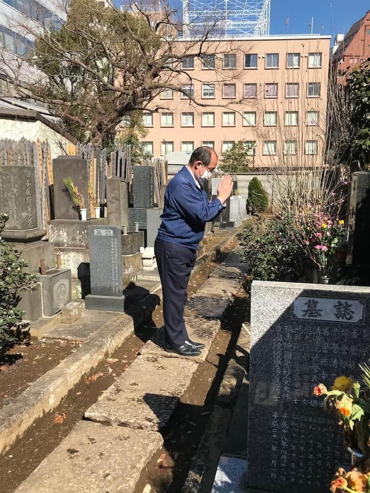 創立者のお墓参り